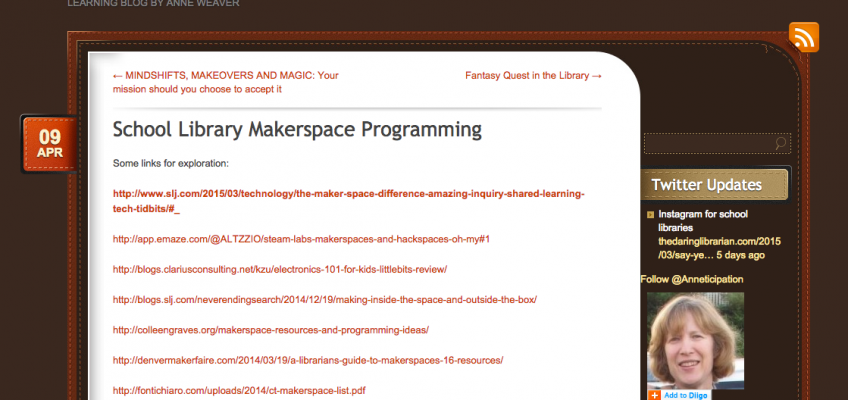 School Library Makerspace Programming