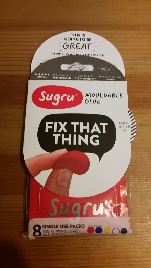 my package of Sugru sitting on the table
