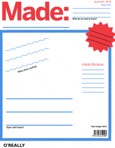 Blank Cover for Made Magazine