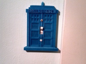 TARDIS light switch cover Thing